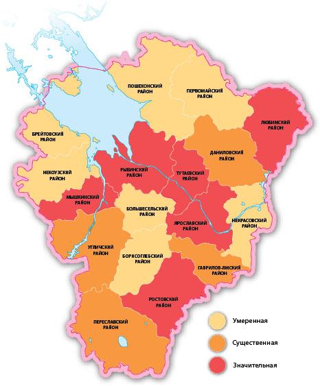 Подробная Карта Дорог Ярославской Области